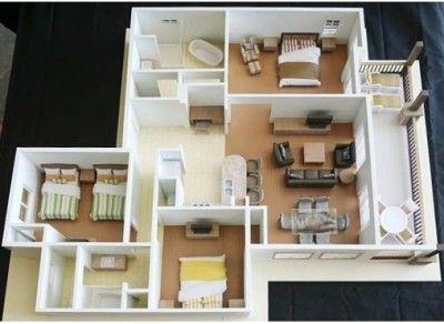 75 Modern And Newest 3 Bedroom 3d 3 Bedroom Plans Minimalist House Design Home Design Plans Minimalist Home