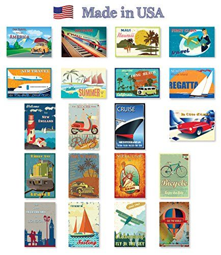 Made in USA. VINTAGE REPRINTS 1907-1941 postcard set of 20 Post card variety pack of vintage postcards reprnits