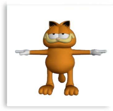 Garfield T-Pose Canvas Print