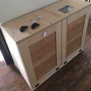 Free Ship Double Tilt Trash Bin Recycle Bins Rustic Tilt Out Trash Bin Trash Can D Raw Wood Laundry Hamper Trash Bins Redo Kitchen Cabinets