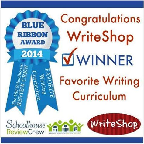 WriteShop   Voted the Schoolhouse Review Crew's favorite writing program for 2014