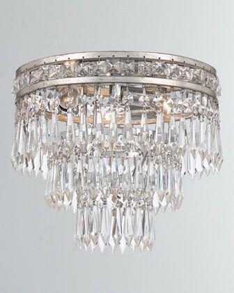 Mercer 3 Light Clear Crystal Flush Mount Crystals Flush Mount Chandelier Ceiling Light Design