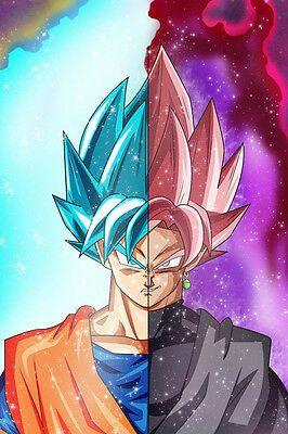 Dragon Ball Super Poster Trunks Vs Zamasu 12in x 18in Free Shipping