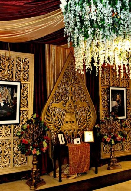 63 Trendy Wedding Backdrop Gold Decor Pernikahan Dekorasi