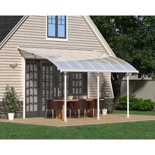 Palram Joya Patio Cover White Clear 10 X 14 Aluminum Outdoor Pergola Pergola Patio Patio Awning