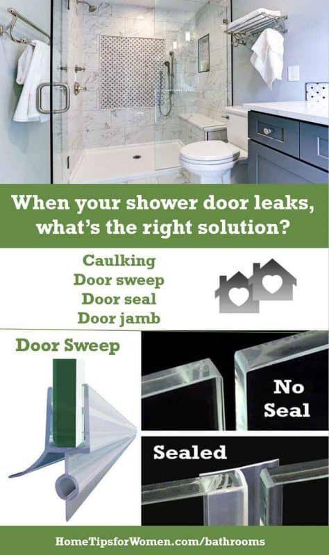 When Your Shower Door Leaks What To Do Home Tips For Women Shower Doors Frameless Shower Door Sweep Glass Shower Doors Frameless