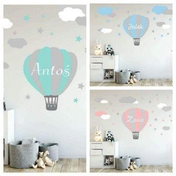 Naklejka Imienny Balon Chmurki Mietowy Kolory Xxl 7771467200 Oficjalne Archiwum Allegro Home Decor Home Decor Decals Decor