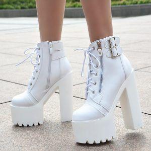 white women's platforms | Heel Shop 24