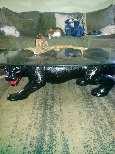Used Black Panther Coffee Table With End Tables For Sale In