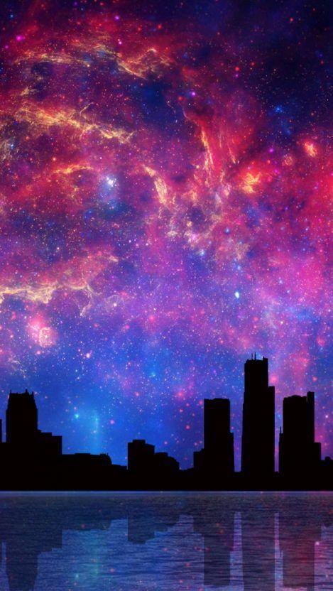 Space Cartoon Aliens Rocket Ships Planets Galaxy Iphone Wallpaper