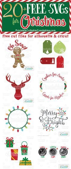 Over 20 FREE SVG Files for Christmas - Free SVG Cut Files