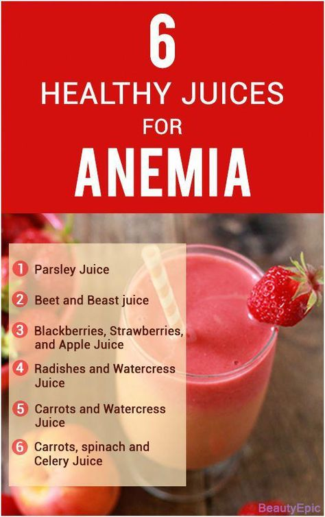 6 Healthy Juices For Anemia #healthycleanse