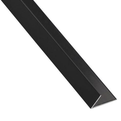 Cornière Inégale Aluminium Anodisé Noir L1 M X L235 Cm X