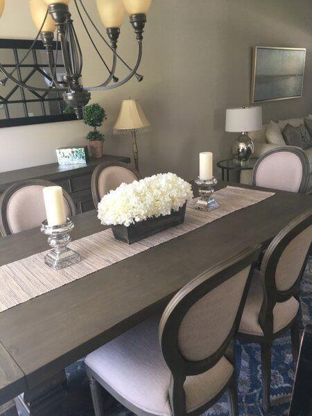 Hydrangeas Centerpiece In Planter Dining Room Table Decor Dinning Room Table Decor Dining Table Decor Centerpiece