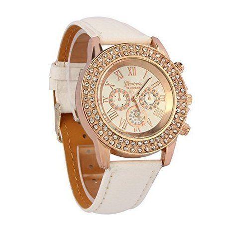 Top Exclusive deals in Cheap Men s Watches UK  Atdoshop(TM) Vogue  Women   LadiesFashion Crystal Dial Quartz Analog Leather  BraceletWristWatch 331977885