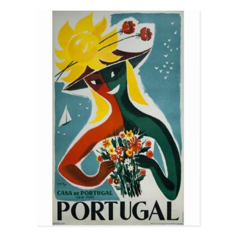 Lisbon Portugal Wine Rooster Fonseca Costa Vintage Poster Print Advertisement