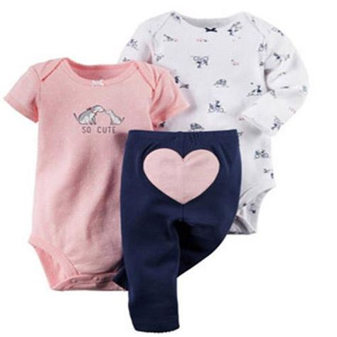 Carter's Baby Girls' So Cute Bodysuits & Pants Set - Sets - Kids & Baby - Macy's