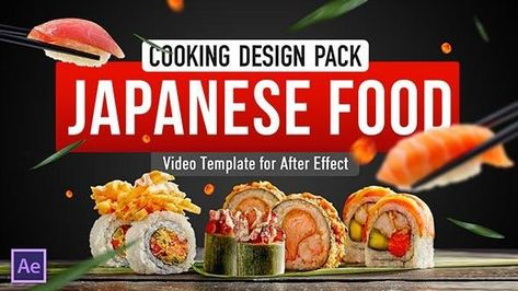 Cooking Japanese Food Recipes Template - After Effects Template