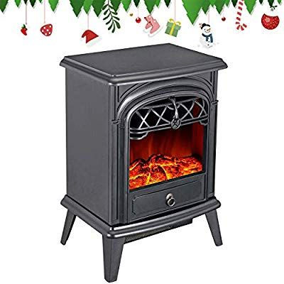 Gmhome Free Standing Electric Fireplace Cute Heater Log Fuel Effect Realistic Fl Free Standing Electric Fireplace Electric Fireplace Faux Fireplace