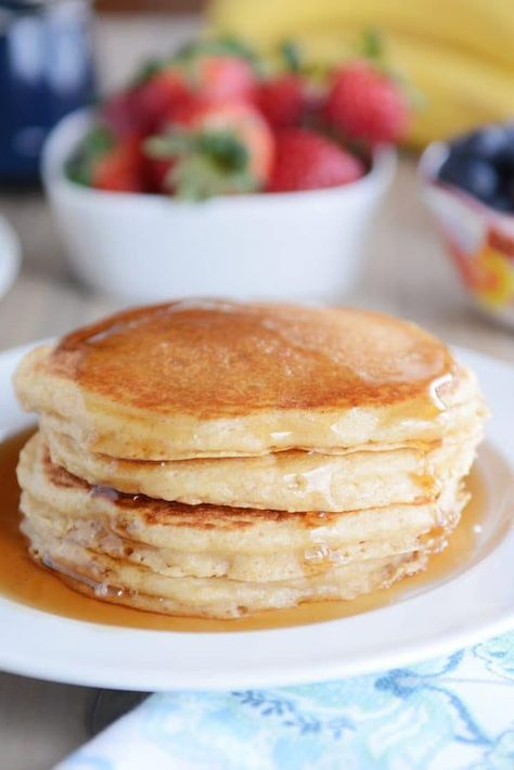 Fluffy Buttermilk Overnight Pancakes Recipe Mel S Kitchen Cafe Recipe Cafe Food Buttermilk Pancakes Fluffy Buttermilk Pancakes