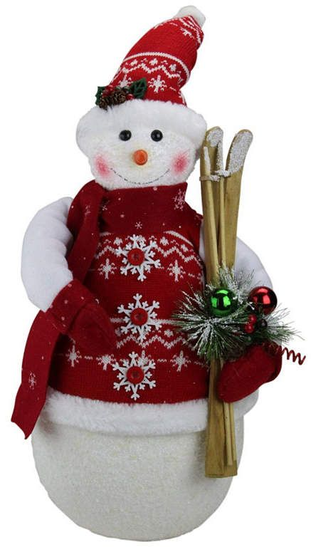 Northlight 20 Alpine Chic Sparkling Snowman With Nordic Style Santa Hat And Skiis Christmas Decoration Reviews All Holiday Lane Home Macy S Nordic Style Christmas Decorations Online Christmas Decorations