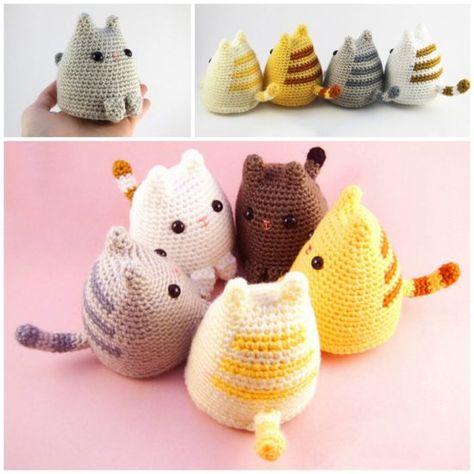 Amigurumi Sleeping Cats | Patrón de ganchillo gato, Juguetes de ... | 474x474