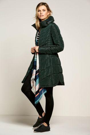 Lee Hanton Women's Plus Size Slim Fit Quilted Zip Up Fur Padded ...