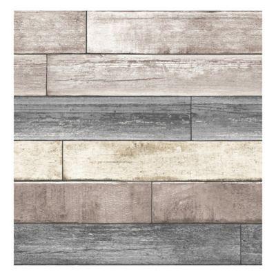 Nuwallpaper Reclaimed Wood Plank Peel Stick Wallpaper In Natural In 2020 Reclaimed Wood Wallpaper Wood Wallpaper Wood Plank Wallpaper