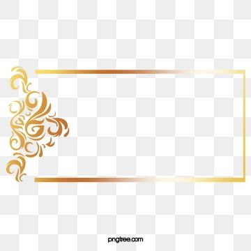 Gold Line Border European Vector Border Vector Border Gold Continental Vector Png Transparent Clipart Image And Psd File For Free Download Clip Art Png Banner Vector