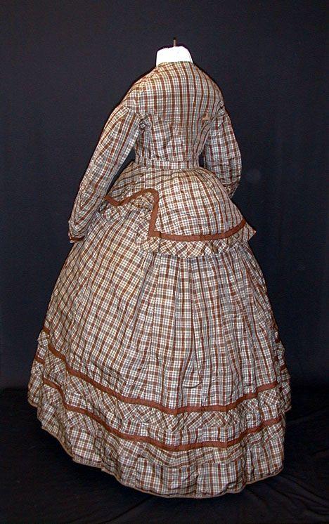 1860 Plaid Silk Dress