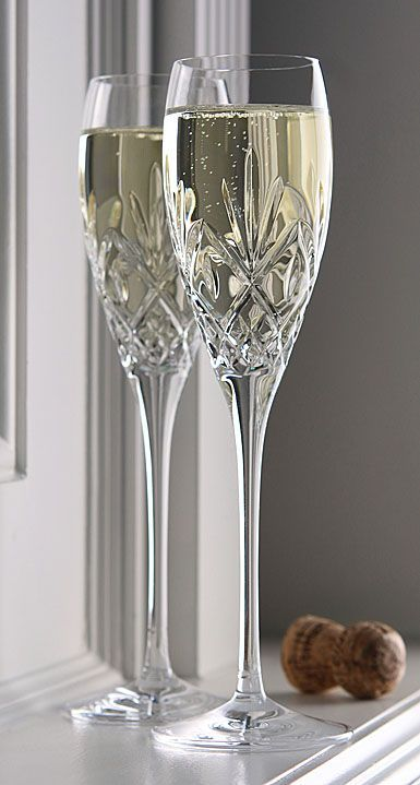 Champagne Glasses Waterford Crystal Huntley Toasting Flutes Pair Wedding Champagne Flutes In 2020 Crystal Glassware Waterford Crystal Crystal Stemware