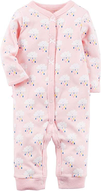 Carters Baby Girls 0M-9M Snap up Cotton Sleep and Play