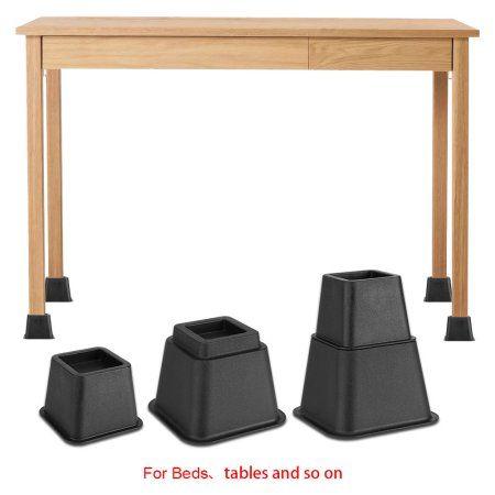 Furniture Risers Riser Adjustable Heavy Duty Table Chair Sofa Lift Bedding 8 PCS