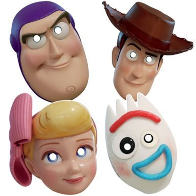 These Toy Story 4 Masks are designed to look like Woody, Buzz Lightyear, Bo Peep, and Forky's faces. Hand these masks out to the kids at your child's birthday party and they can become their favorite Toy Story characters! Toy Story Halloween, Halloween Costume Shop, Halloween Costumes For Kids, Costumes Kids, Halloween 2019, Toy Story Kostüm, Toy Story Party, Party Kit, Party Ideas