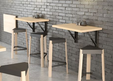 Retractable Wall Table Ideal For Small Spaces ในป 2020 การ