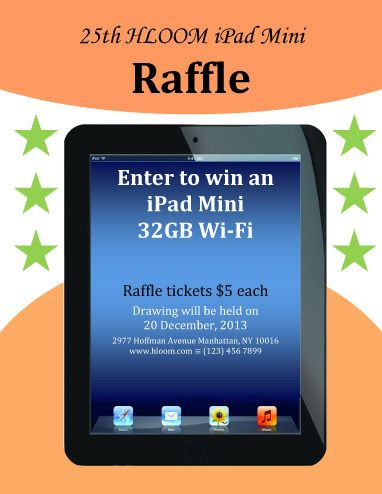 iPAD Mini Raffle Flyer Template Raffle Flyer and Ticket - free raffle ticket template
