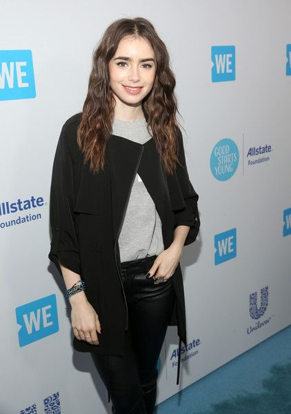 Lily Collins attends WE Day California at The Forum.