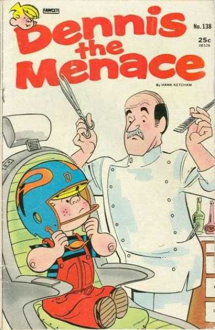 Dennis Gets A Haircut Going To The Barber Snip Snip Just A Little Off The Top Dennis Is In Trouble Aga Comic Books Dennis The Menace Magazines For Kids