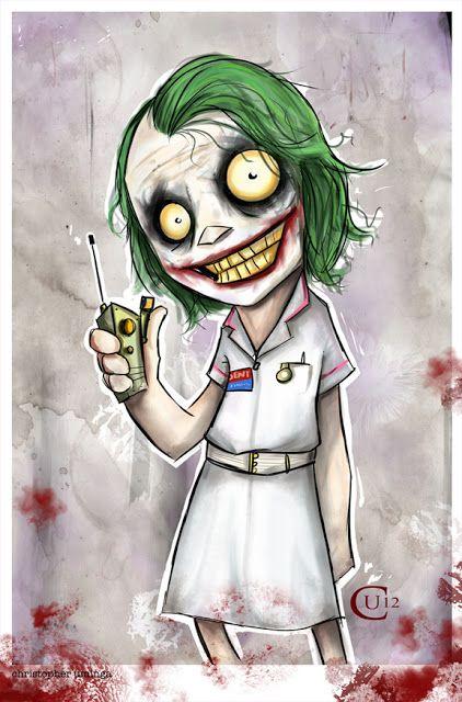 Uminga Nurse Joker Superheroes Dibujos Guason Dibujo Y