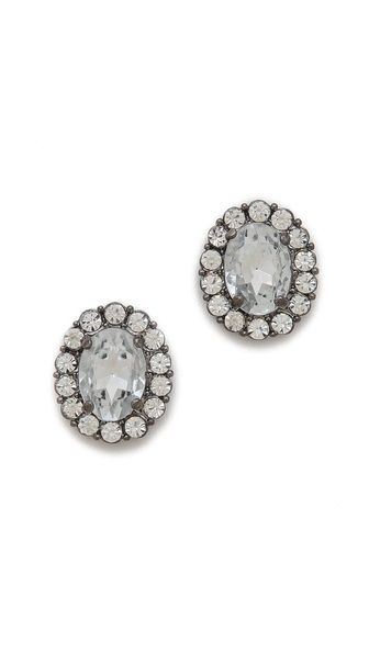 crystal stud earrings / adia kibur