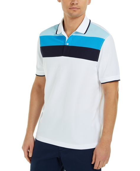 Club Room Mens Colorblocked Rugby Shirt