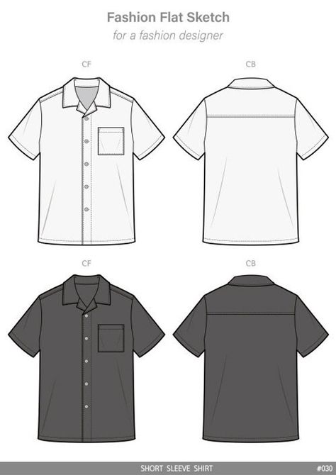 Vector Apparel Templates and Fashion Flat Sketches