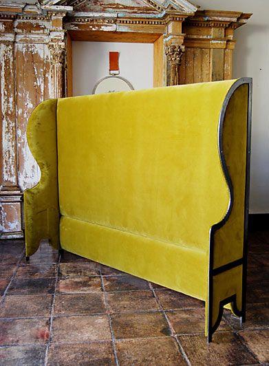 Velvet High Wing Back headboard from casamidy.com