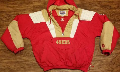 979bfea9 San Francisco 49ers Starter Jacket Vintage NFL Pro Line Pullover ...