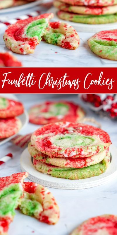 Funfetti Christmas Sugar Cookies!   Lemon Peony | Recipe in 2020