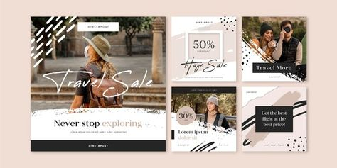 Download Travel Instagram Posts Pack for free