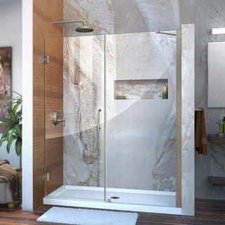 Dreamline Unidoor 55 56 In W X 72 In H Frameless Hinged Shower