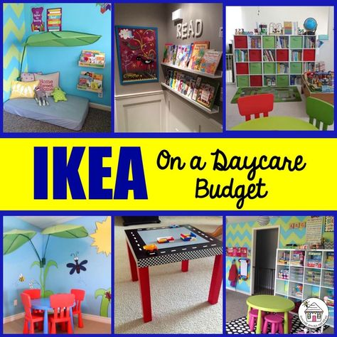 on a Daycare Budget Over photos featuring how Childcare Provider's use IKEA products in their Spaces.Over photos featuring how Childcare Provider's use IKEA products in their Spaces. Home Daycare Decor, Toddler Daycare Rooms, Daycare Setup, Daycare Spaces, Childcare Rooms, Daycare Design, Daycare Organization, Kids Daycare, Daycare Ideas
