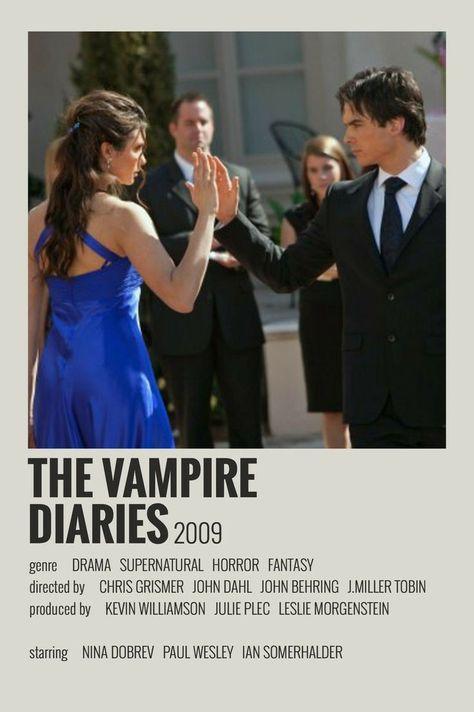 TV Shows Poster Polaroid : The Vampire Diaries (2009)