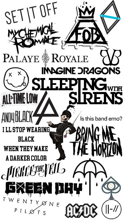 Emo Band Phone Wallpaper Band Wallpapers Pierce The Veil Wallpaper Sleeping With Sirens